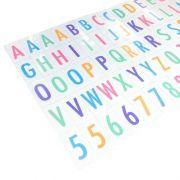 85 Letras Coloridas Luminária Letreiro De Cinema Lightbox A4