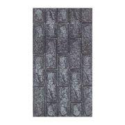 Adesivo Decorativo com Relevo Textura Tijolo Preto 38,5x69cm