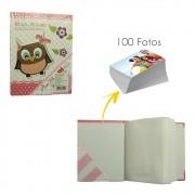 Album De Fotos 100 Fotos 10x15 Rosa Laço