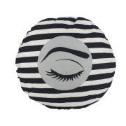 Almofada Decorativa de Cílios 30cm  - Listada Preto e Branco