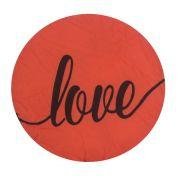 Almofada Decorativa Redonda - 31 cm - Love Vermelho