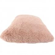 Almofada Decorativa Retangular Felpuda - Rose Nude