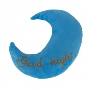 Almofada Lua - Good Night (azul Com Letra Dourada)
