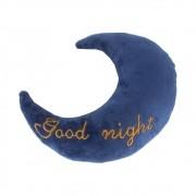 Almofada Lua - Good Night (azul Marinho Com Letra Dourada)