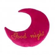 Almofada Lua - Good Night (pink Com Letra Dourada)