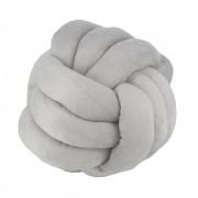 Almofada Nó para Decorar - Cinza Claro - 26cm