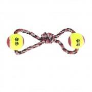 Brinquedo Mordedor Corda Com 2 Bolas Pet - Cães Grandes