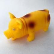 Brinquedo Mordedor Pet Porco Sonoro - Amarelo 21cm
