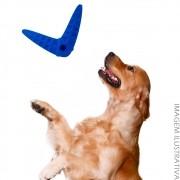 Brinquedo Pet Mordedor Bumerangue - Azul 14x17cm