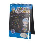 Caderno Mágico Crianças Escrita Colorida - Capa Azul
