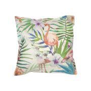 Capa para Almofada Flamingo Folhagem Degrade Colorida 43x43