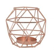 Castiçal para Velas - Oval Geométrico - Rose Gold