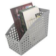 Cesto Multiuso Organizador para Livros 26,5x12,4x18,7 Cinza