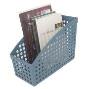 Cesto Multiuso Organizador para Livros 26,5x12x18,7 Azul