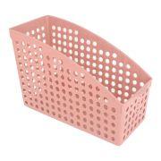 Cesto Multiuso Organizador para Livros 26,5x12x18,7 Vermelho