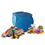 Cesto Organizador De Brinquedo Roupa Suja Dobrável Elefante