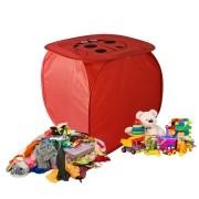 Cesto Organizador De Brinquedo Roupa Suja Dobrável Joaninha