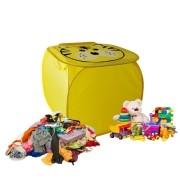 Cesto Organizador De Brinquedo Roupa Suja Dobrável Tigre