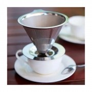 Coador Filtro Permanente Suporte Cafe Aço Inox Reutilizável