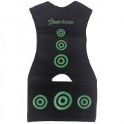 Colete Corretor De Postura Ajustável Best Choice Preto e Verde