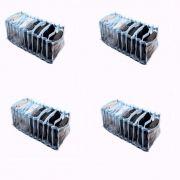 Colméia Organizadora de Gavetas (para cuecas, calcinhas e meias) Transp Viés Azul 11 Nichos 4 unidades