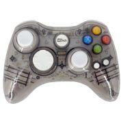 Controle Sem Fio Transparente à Pilha para Xbox 360 - Cinza