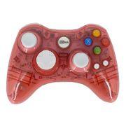 Controle Sem Fio Transparente à Pilha para Xbox 360 Vermelho
