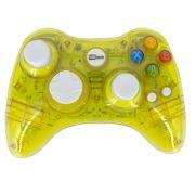 Controle Sem Fio Transparente à Pilha paral Xbox 360 Amarelo