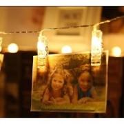 Cordão De Luz Photo Clip Led Com 10 Prendedores À Pilhas 2m