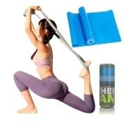 Faixa Elástica Fisio Pilates Yoga Mbfit Azul