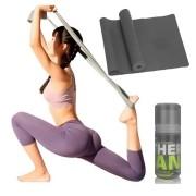 Faixa Elástica Fisio Pilates Yoga Mbfit Preta