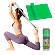 Faixa Elástica Fisio Pilates Yoga Mbfit Verde