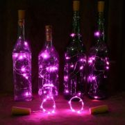 Fio Luz de Fada em Rolha de Garrafa 2 metros - Rosa
