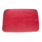 Jogo 03 Tapetes para Banheiro Riscadinho Vermelho