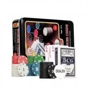Jogo De Poker Profissional Pac, Kit C/ 80 Fichas + Baralho