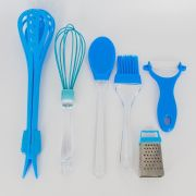 Kit 06 Utensílios de Cozinha - Azul