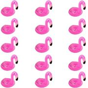 Kit 15 Porta Copos Boia Inflável Flamingo