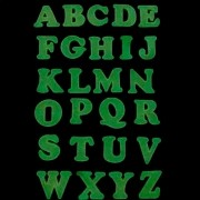 Kit 26 Adesivos Que Brilham No Escuro  ABC (Verde Limão)