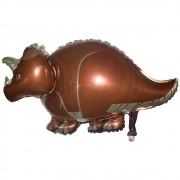 Kit 2 Balões Metalizado Dinossauro Marrom 95cm