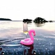 Kit 50 Porta Copos Boia Inflável Flamingo