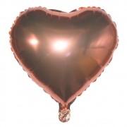 Kit com 05 Balões Metalizado - Coração Rose Gold (61cm)