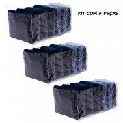 Kit Organizador de Calça Jeans em PVC Cristal - 03 peças