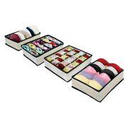 Kit Organizador de Gavetas (calcinhas, sutiãs e meias) com 4 peças