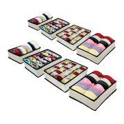 Kit Organizador de Gavetas (calcinhas, sutiãs, meias) com 8 peças