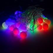 Luminária Cordão Luz Led - 20 Bolinhas Coloridas