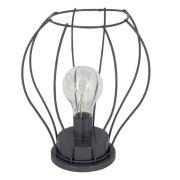 Luminária Decorativa de Mesa - Balão Cinza