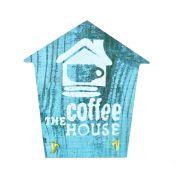 Mini Porta Chaves com 02 Ganchos – Coffe House Azul