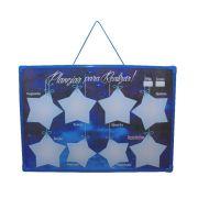 Mural Recados Semanal Mensal Azul Planejar Realizar Estrelas