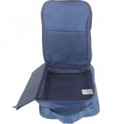 Necessaire Portátil para Viagem 03 Divisórias - Azul Marinho