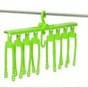 Organizador Cabides Multifuncional 08 cabides - Verde Limão